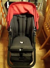 Bugaboo Cameleon red and grey, with accessories