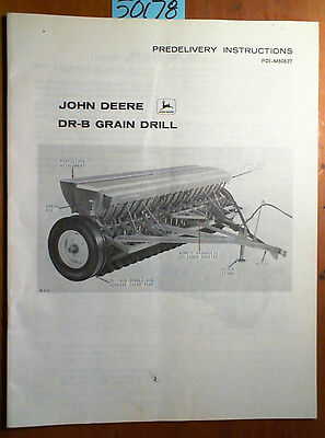 John Deere Dr-b Grain Drill Predelivery Instructions Manual Pdi-m60627 C9 369
