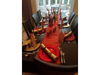 Black Wooden Extendable Table with 4 chairs