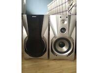 Sony hi-fi stereo large speakers
