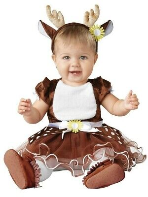 Baby Deer Halloween Costume (Baby Deer Costume Child Infant 6-12 Months Halloween Dress Up Outfit Fawn)