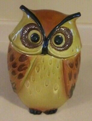 Vintage Cookie Jar Owl  Metlox Poppytrail Owl Made in California 10