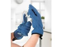 Microfibre dish drying gloves