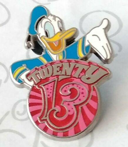 Donald Duck 2013 Dated Year Twenty 13 Mini Booster Disney Pin 93924