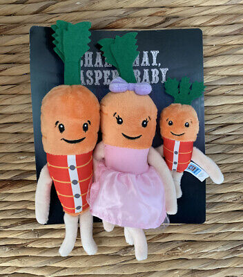 Kevin the Carrot Chantenay and Jasper and baby 2019 plush christmas Aldi...