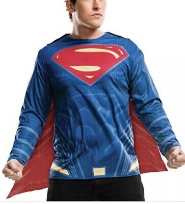 Childrens Superman Costume (Childs Boy's Justice League Superman Costume Shirt Large)