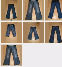5 pairs size 10 maternity jeans