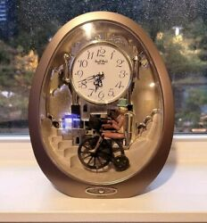 Vintage RHYTHM MUSICAL MOVEMENT JAPAN MANTLE CLOCK  over the rainbow and more