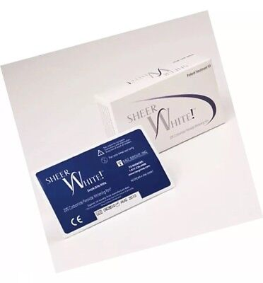 Sheer White BEST Professional Teeth Whitening Strips Films Kit 20% At Home
