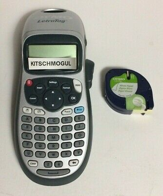 Used Tested Dymo Letratag Lt-100h Portable Label Maker And 2 White Paper Refills