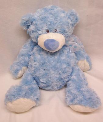 """Baby Ganz CUTE SOFT BABY BLUE TEDDY BEAR 14"""" Plush Stuffed Animal"""