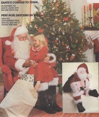 Santa Suit Female (Sewing Pattern Adult Christmas Santa Suit Hat Coat Pants Costume Elf Doll Bag)