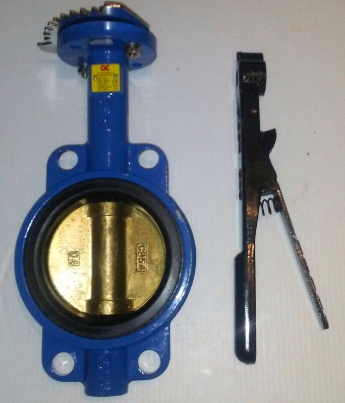 """C&C INDUSTRIES 4"""" SERIES C200 BUTTERFLY VALVE, WAFER PATTERN, NEW, FREE SHIPPING"""