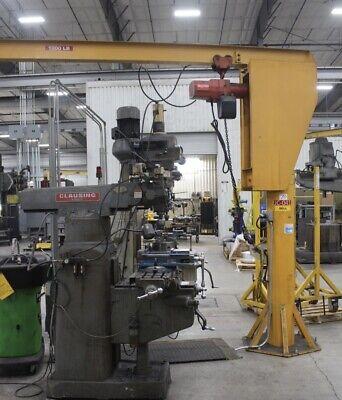 12 Ton Freestanding Jib Crane W Electric Hoist 10 Under Beam 11 Arm 8 Trav