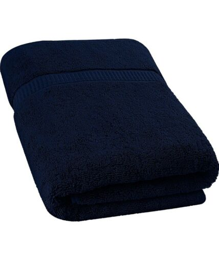 Extra Large Bath Sheet Towel Dark Blue Soft Absorbent Cotton
