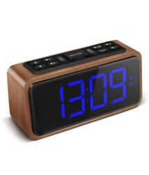Digital Alarm Clock 6.3 Large Led Display With Big Number Adjustable Brightness