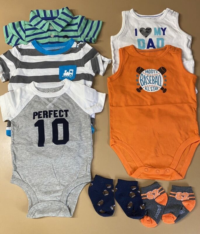 7 Piece Lot Of Baby Boy Spring/summer Clothes Size 6 Months