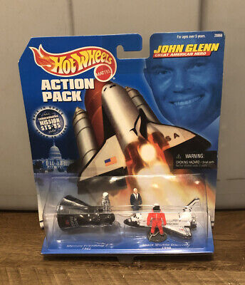 Hot Wheels John Glenn NASA Action Pack Space Shuttle Discovery Mattel 1998 NIP