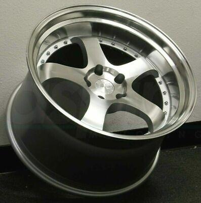"19 Inch AodHan Ah03 Wheels 19x9.5 +22  5x114.3 Silver Machined Rims 19"" Set 4"