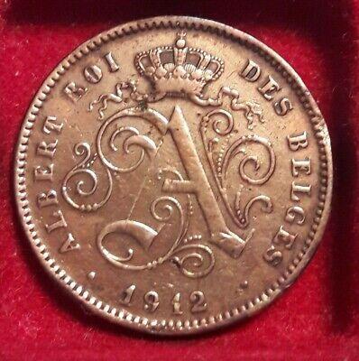 2 cent 1912 frans * Prachtig * ALBERT I  Belgique Belgïe Belgium