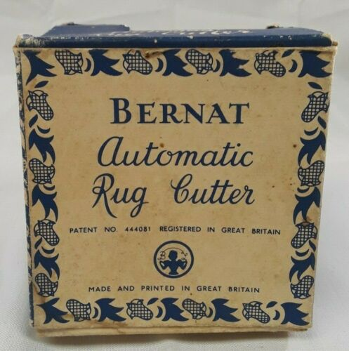 Vintage Bernat Automatic Rug Cutter with Instructions Great Britain IOB
