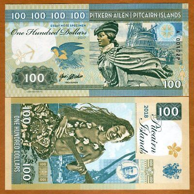 Pitcairn Islands, $100 private issue, 2018, Bounty, Polynesian Nude