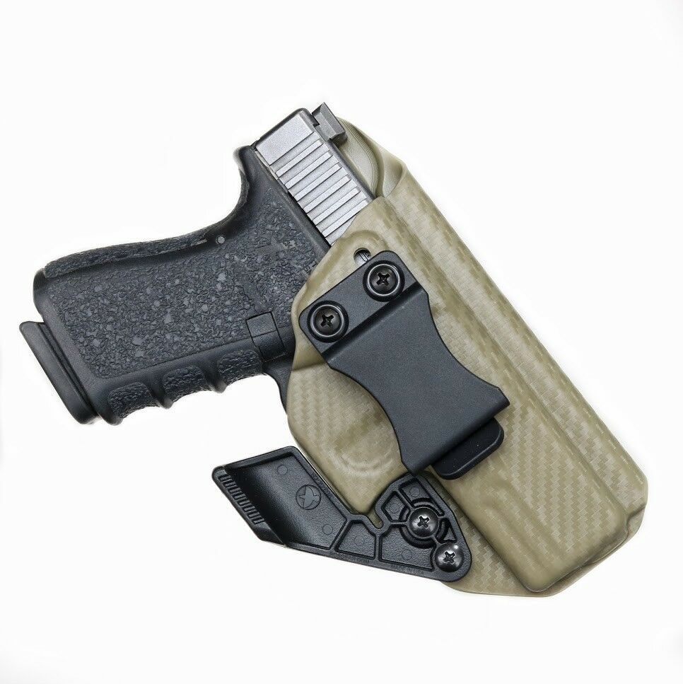 Kydex Holster for Glock 19 /19x /23/25/45 Iwb/Aiwb + CLAW/ WING Adjustable Clip!