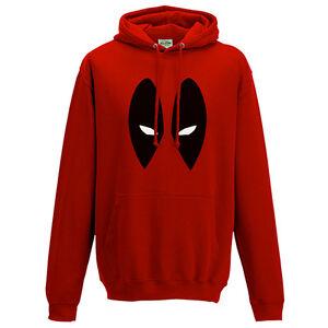 Deadpool Hoodie - Marvel Inspired Comics Eyes Face Kids & Mens Unisex Hoody Top