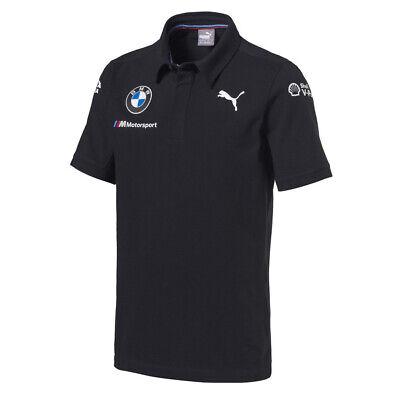 Official 2018 Puma BMW M Sport Motorsport Team Mens Polo Shirt 100% Cotton Pique