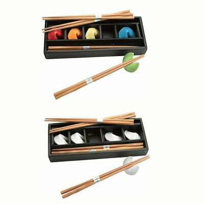 JapanBargain Multi-Colored or White Fortune Cookie Chopsticks and Rest Set New
