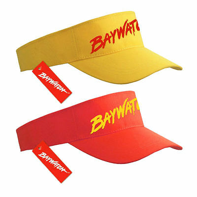 LICENSED BAYWATCH ® SUN VISOR (RED / YELLOW COLOUR CHOICE) NEW LIFEGUARD HAT CAP