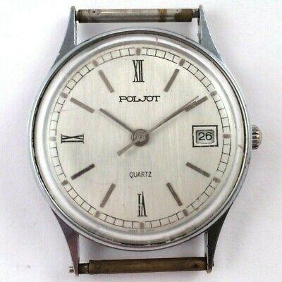 Soviet POLJOT Quartz watch With Original Band Serviced VGC+ *US SELLER* #1435