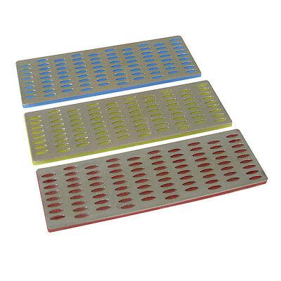 Silverline Diamond File Card Sharpening Stone, Honing Whetstone 3pce 50 x 150mm