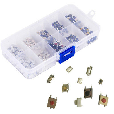 200x Microswitch Tactile Push Button Switch Micro Smd Smt Tact Switches 10 Types