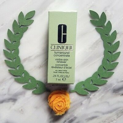 Clinique Turnaround Concentrate Visible Skin Renewer Cream  5 Oz   15Ml With Box