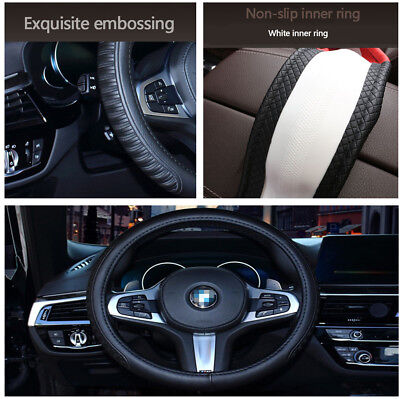High Quality PU Leather Non-Slip Car Steering Wheel Cover Pad Stylish Appearance