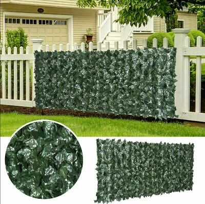 3m Garden Artificial Ivy Leaf Hedge Fence Wall Balcony Privacy Screening Roll