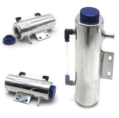 0.5 L Aluminium Polished Oil Catch Tank Coolant Tank Reservoir Cooling Radiator