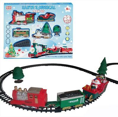 Christmas Santas Musical 20 Piece Train Set with Track - Battery Operated