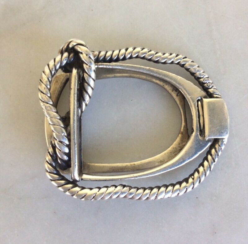 Vintage GUCCI Sterling Silver Rope Stirrup Money Clip Rare