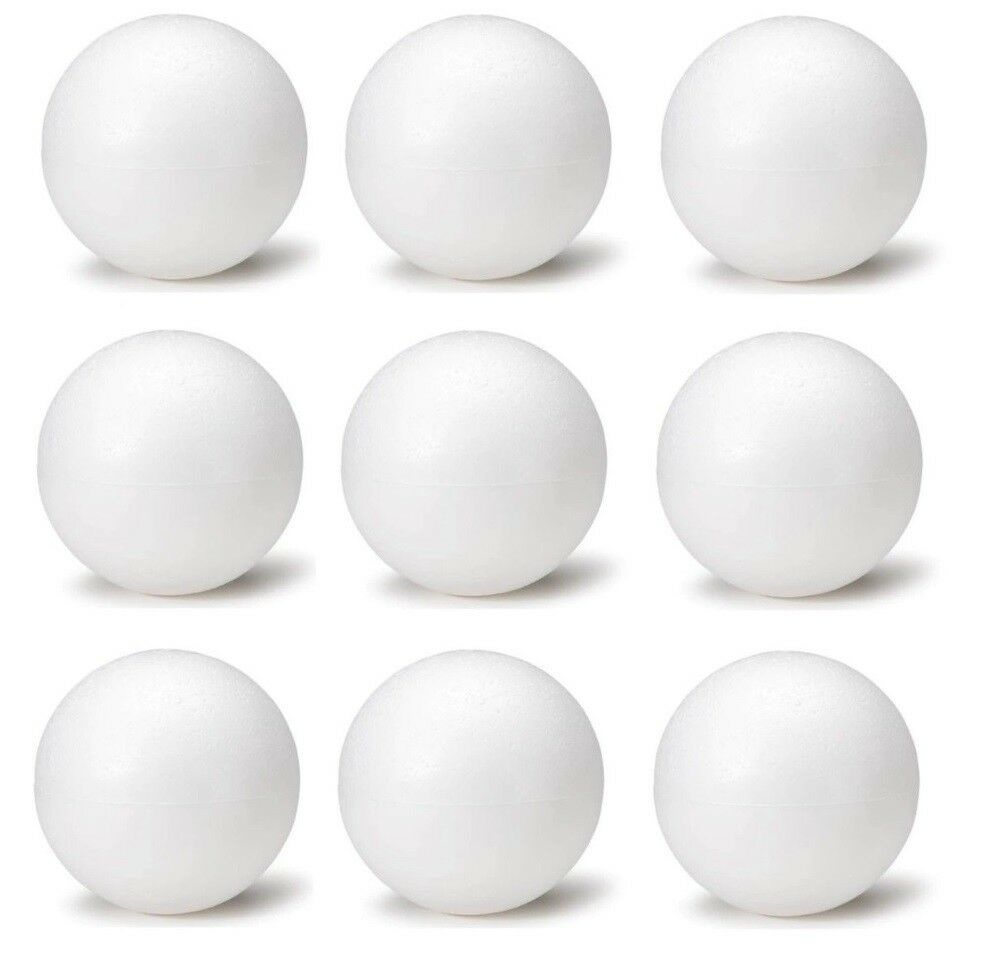 5 Inch Foam Polystyrene Balls for Art & Crafts Projects
