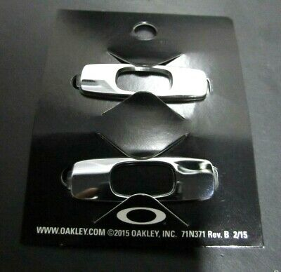 Oakley Batwolf Sunglasses Replacement Icons Polished Chrome Pair Original 08-028