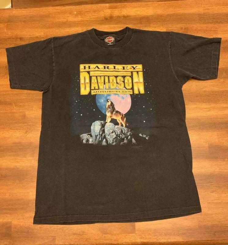 Vintage 1992 Harley Davidson Single Stitch Holoubek Shirt Size M Richmond VA