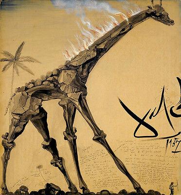 Salvador Dali Giraffe candelabrum canvas print giclee 8X8&12X12 reproduction  ()