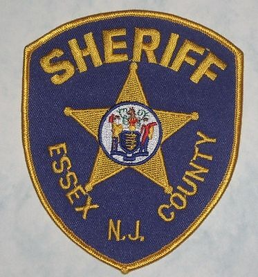 """Essex County Sheriff Shoulder Patch - New Jersey - 4"""" x 4 5/8"""""""