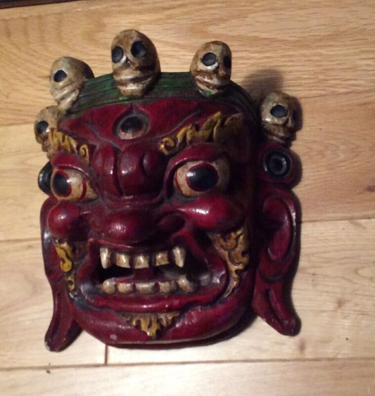 Vintage Ethnic Wooden Mask