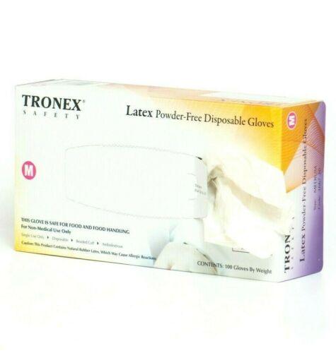 1000pcs Latex Disposable Gloves, Powder Free (10 Boxes of 100, XL Size)