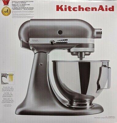 ** Kitchenaid 4.3 L Stand Mixer Contour Silver 5KSM95PSBCU UK w Pouring Shield