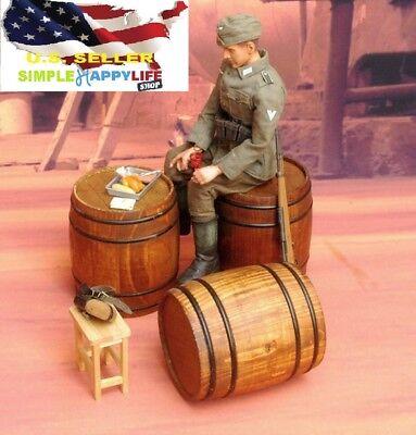 SHQ VP36 1//76 Diecast WWII Wooden Barrels