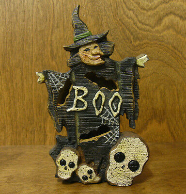 HALLOWEEN #J4404A BOO WITCH FIGURINE, NEW from Retail Store, 7